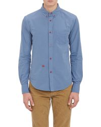 Band Of Outsiders Booembroidered Poplin Shirt - Lyst