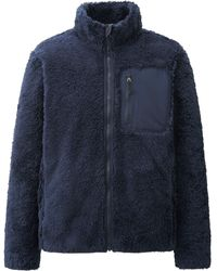 Uniqlo Men Wind Proof Faux Shearling Jacket - Lyst
