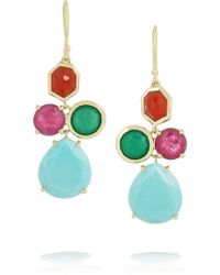 Ippolita - Gelato Mini Cascade 18-Karat Gold Multi-Stone Earrings - Lyst