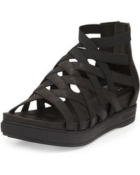 Eileen Fisher | Airy Caged Leather Sneaker | Lyst
