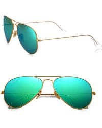 Ray-Ban Original 58Mm Polarized Aviator Sunglasses - Lyst