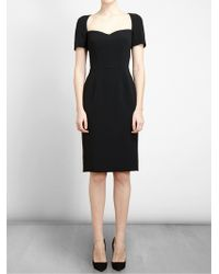 Dolce & Gabbana Crepe Dress with Structured Bust - Lyst