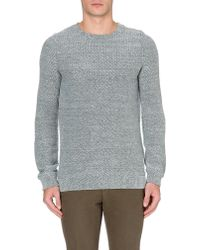A.P.C. Basic Wool-blend Sweater - Lyst