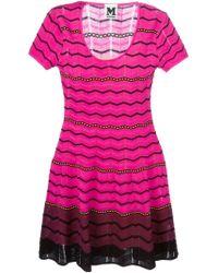 M Missoni Zig Zag Stripe Knitted Dress - Lyst