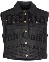 John Galliano Gray Denim Outerwear - Lyst