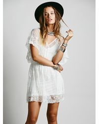 Free People Mesh Embroidered Dolman Dress - Lyst