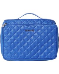 MZ Wallace - Zip Around Cosmetic Sapphire Quilted Oxford Nylon - Lyst