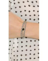 Sogoli - Stone Wrap Braided Bracelet - Silver/black - Lyst