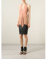 Rick Owens Draped Halter Top - Lyst