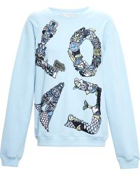 Mary Katrantzou Embroidered Love Sweatshirt - Lyst