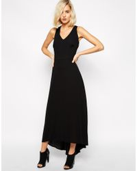 Selected Badina Maxi Dress With Cross Back Detail - Lyst