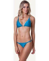 ViX Solid Blue Ocean Fixed Triangle Top blue - Lyst