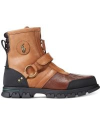 Polo Ralph Lauren Conquest Low Boots brown - Lyst