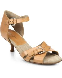 Michael Kors Raleigh Leather Sandals - Lyst