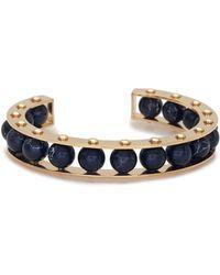 Lele Sadoughi - Riveted Gold-plated Slider Cuff Bracelet - Lyst