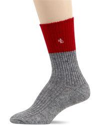 Ralph Lauren Cashmere Color Block Trouser Socks - Lyst