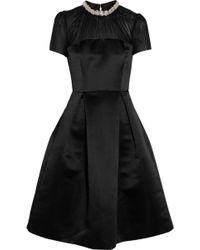Lulu & Co Embellished Brushed-Satin Dress - Lyst
