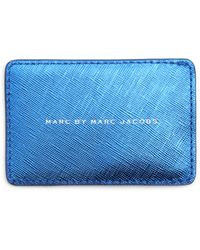 Marc By Marc Jacobs Blue Card Wallet with Change Compartment - Lyst