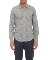Vince Gray Floral-print Shirt - Lyst
