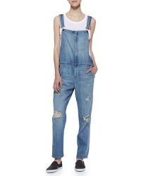 Current/Elliott Ranch Hand Wanderer Destroy Overalls - Lyst