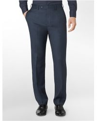Calvin Klein White Label Body Slim Fit Navy Sharkskin Suit Pants - Lyst