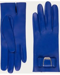 Bally - Leather Gloves Women's Nappa Leather Gloves In True Blue - Lyst