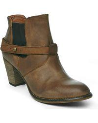 Steve Madden Cognac Spunkk Ankle Boots - Lyst
