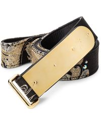 Giuseppe Zanotti Dragon Embroidered Leather Belt - Lyst