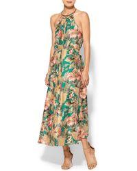 Zimmermann Floral Choker Dress - Lyst