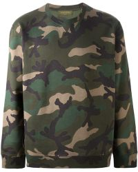 Valentino 'Rockstud' Camouflage Sweatshirt - Lyst