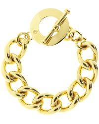 Brooks Brothers Gold Chain Toggle Bracelet - Lyst