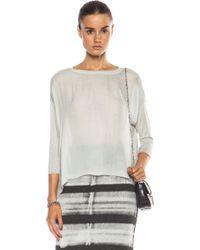 Raquel Allegra Silk & Jersey Cocoon Top - Lyst