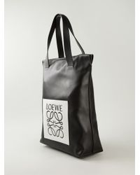 Loewe Logo Shopping Tote - Lyst