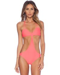 Mikoh Swimwear Makaha Multi String Racerback Swimsuit - Lyst