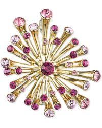 Jones New York - Gold-Tone Pink Burst Dots Pin - Lyst