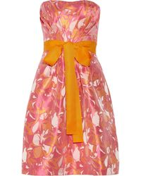 Badgley Mischka Floraljacquard Dress - Lyst