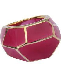 Isharya - Raspberry Louvre Ring - Lyst