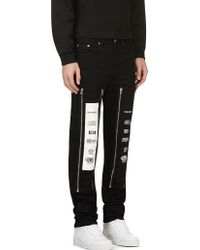 Hood By Air Black Zip_away Panel Jeans - Lyst