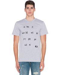 Obey Arrangement Letter-Print T-Shirt gray - Lyst