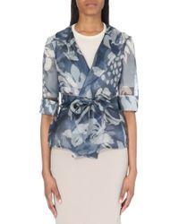 Armani Printed Organza Wrap Jacket - For Women - Lyst