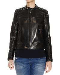 RED Valentino Jacket Leather Biker - Lyst