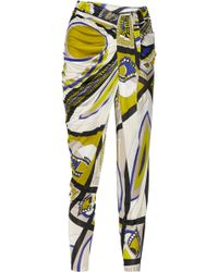 Emilio Pucci Printed Jersey Tapered Pants - Lyst