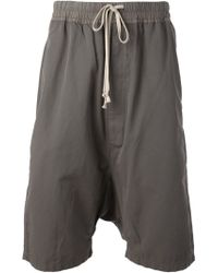 DRKSHDW by Rick Owens Dropped Crotch Shorts - Lyst