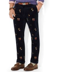 Polo ralph lauren Classic Fit Newport Embroidered Corduroy Pants ...