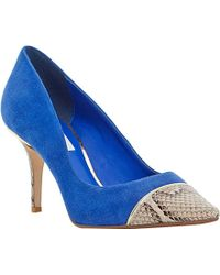 Dune Bellina Toecap Suede Court Shoes - For Women blue - Lyst