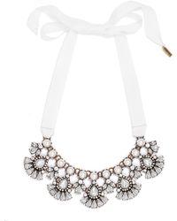 BaubleBar Ribbon Pearl Petal Collar - Lyst