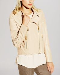 Vince Camuto - Leather Moto Jacket - Lyst