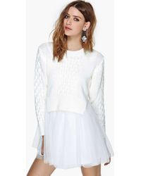 Nasty Gal Unif Chloe Sweater Dress - Lyst