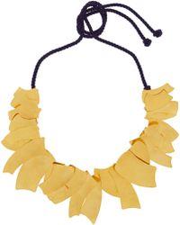 Herve Van Der Straeten Hammered Gold-Plated Necklace - Lyst