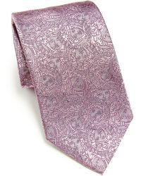Versace   Overlap Medusa Head Tie   Lyst